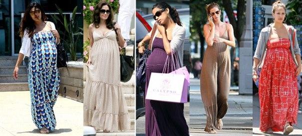 Vestido longo para grávidas